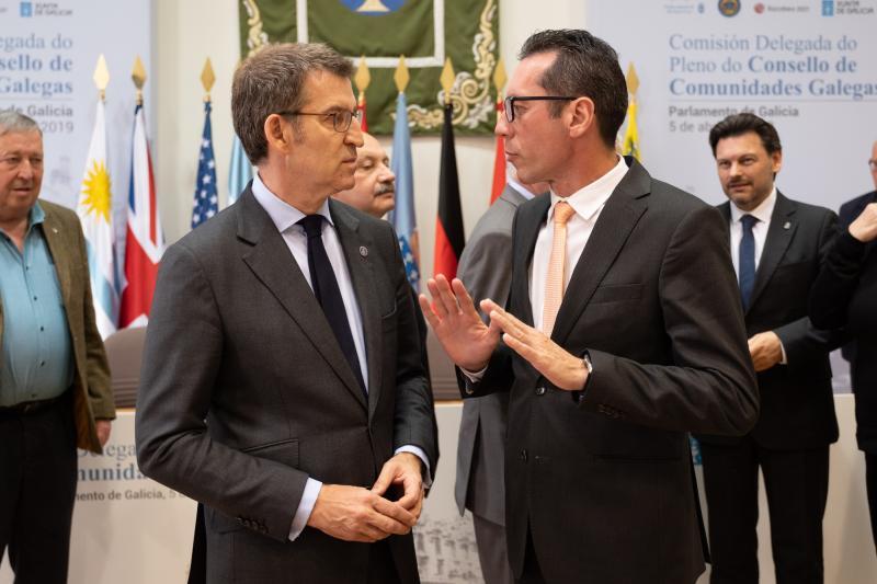 O presidente da Xunta participou na inauguración da reunión extraordinaria da Comisión Delegada do Consello de Comunidades Galegas