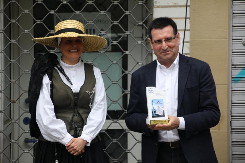 O xefe do Servizo de Promoción das Comunidades Galegas, durante a celebración. Foto: Edmundo Martín