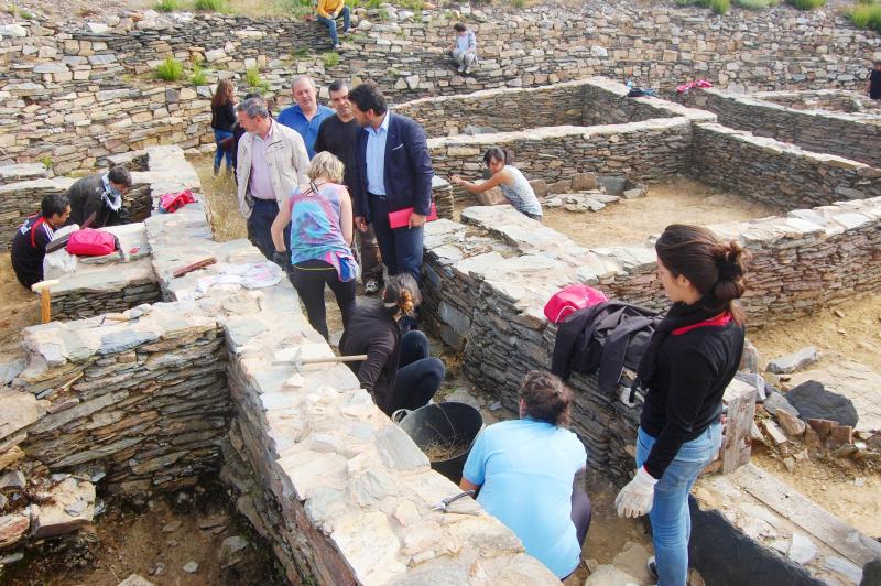 Imaxe de arquivo do campo de traballo no castro de Castromaior (Portomarín)