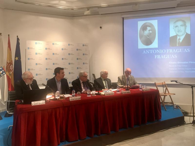 Imaxe do acto celebrado esta mañá na capital de España