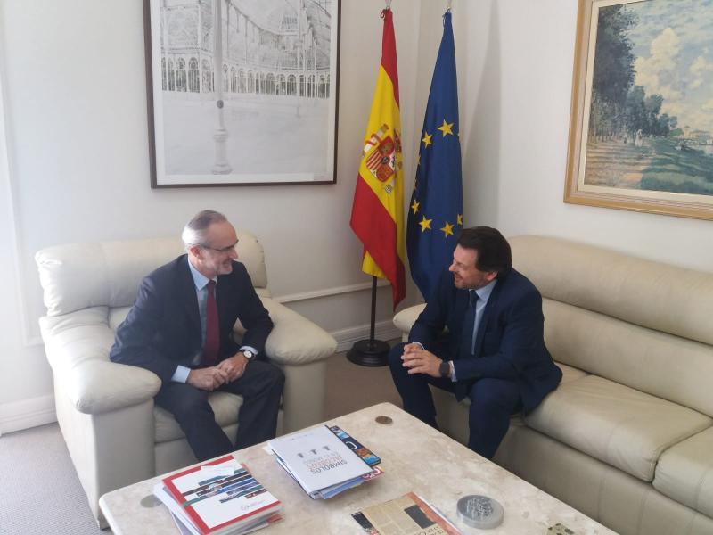 O secretario xeral da Emigración reuniuse tamén co cónsul xeral de España en São Paulo, Ángel Vázquez Díaz de Tuesta en