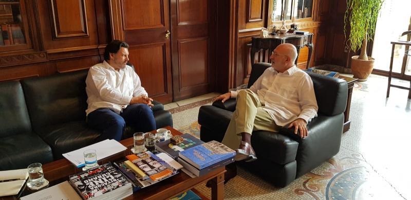 Na imaxe, o secretario xeral da Emigración da Xunta de Galicia e o embaixador de España en Cuba