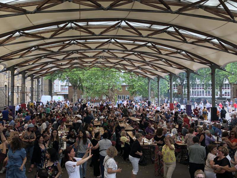 Imaxe da celebración de hoxe organizada polo Centro Galego da capital británica