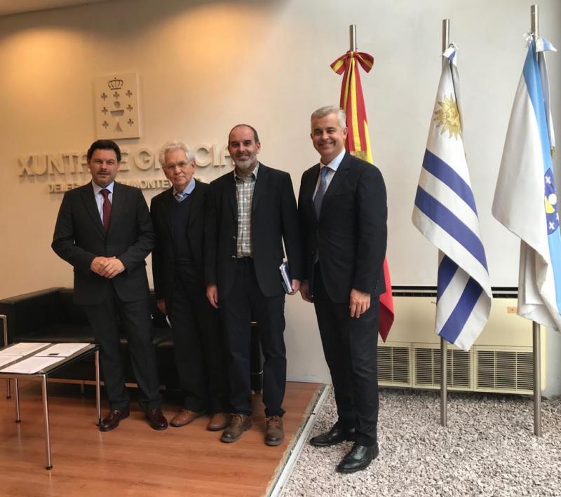 Miranda asina convenios coas principais entidades sociais de orixe galega do Uruguai, que garanten atención para galegos sen recursos