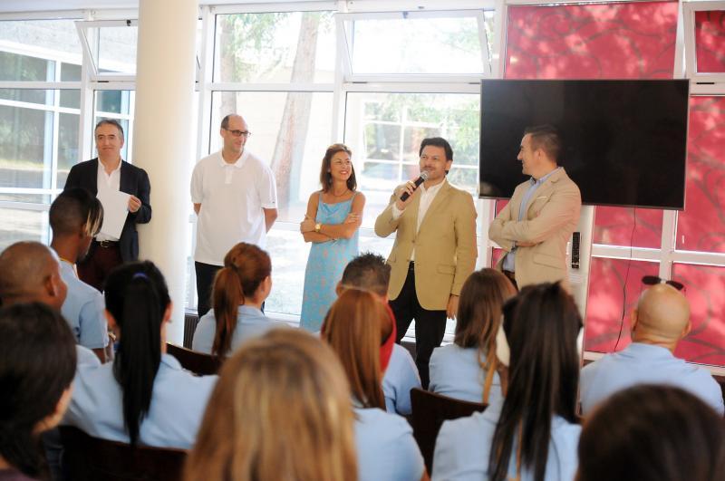 Imaxe da inauguración, esta mañá en Ourense, das Escolas Abertas 2019