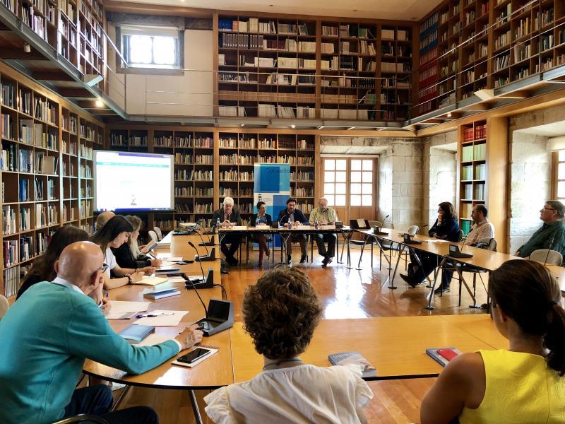 Imagen de la presentación este mediodía en el Consello da Cultura Galega