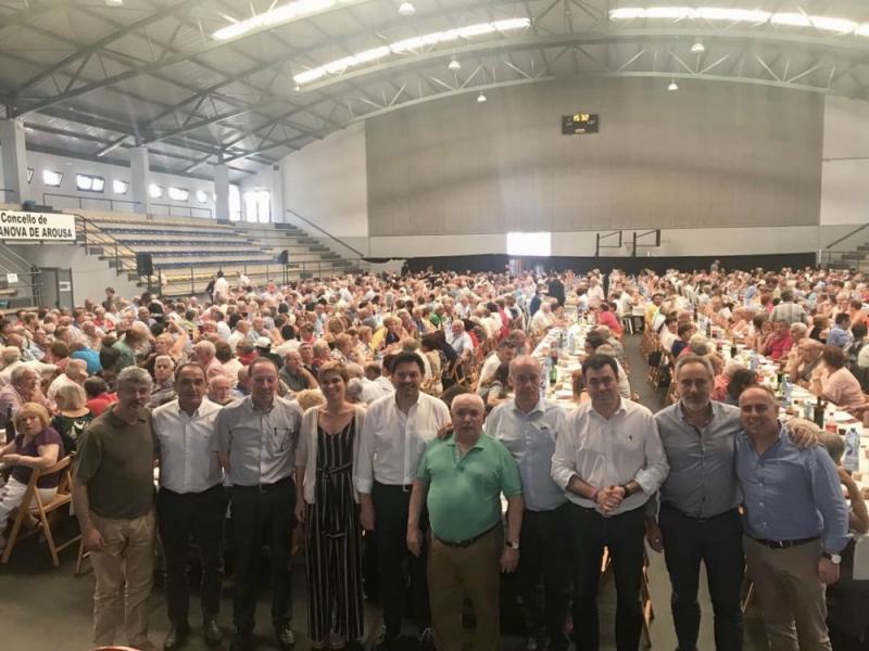 Imaxe da IXª Xuntanza da Emigración celebrada hoxe en Vilanova de Arousa