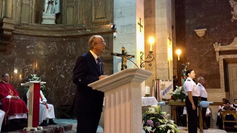 Foto 6: Invocación ao Apóstolo, pronunciada polo presidente do Centro, José Antonio Otero Hermida