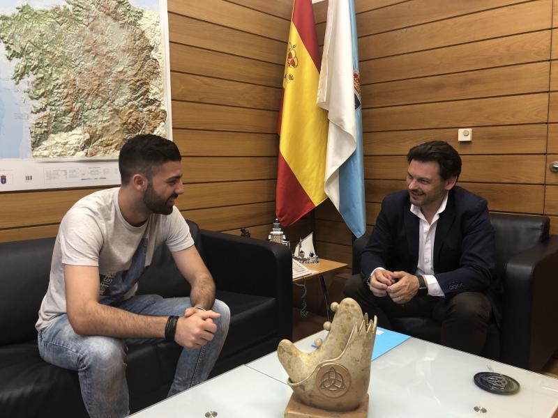 El secretario xeral da Emigración mantiene un encuentro con el nuevo presidente, Francisco Álvarez