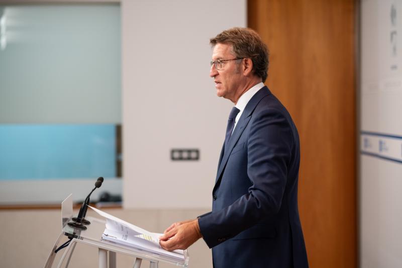 O presidente da Xunta de Galicia, na rolda de prensa posterior ao Consello