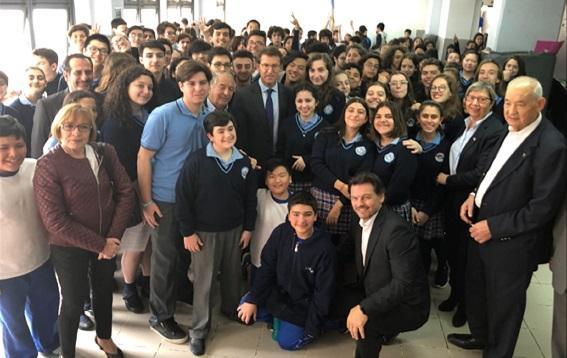 O presidente da Xunta tamén visitou en Bos Aires o Instituto Argentino Gallego Santiago Apóstol