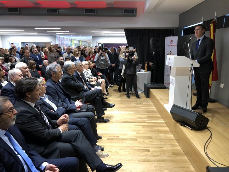 O presidente da Xunta asistiu á inauguración da sede da Obra Social Ospaña