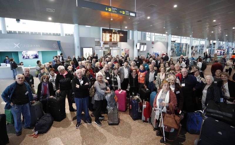 Imaxe desta mañá no aeroporto vigués de Peinador
