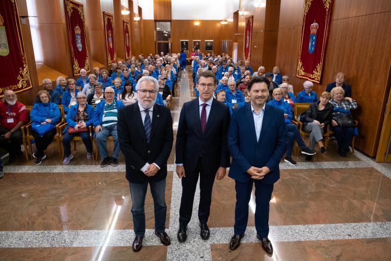 Imagen de la recepción de esta mañana en el Parlamento de Galicia