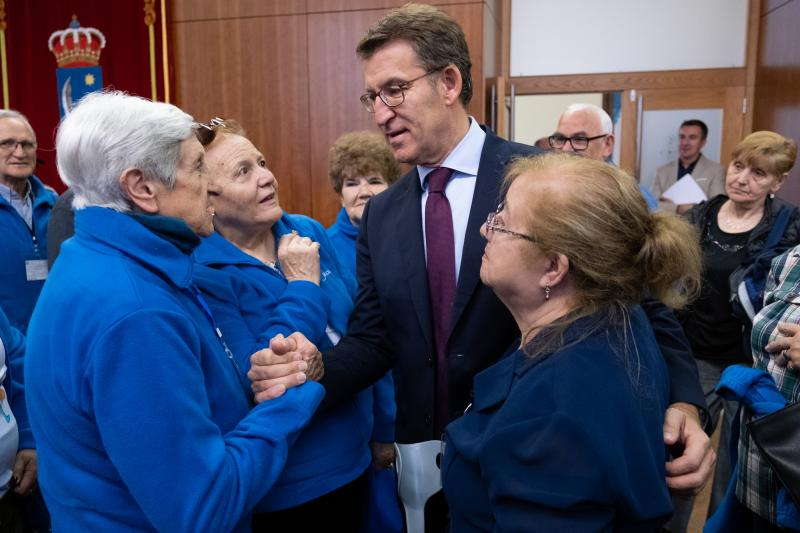 Imaxe da recepción desta mañá no Parlamento de Galicia