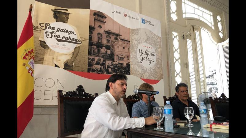 Imaxe da presentación na capital cubana do roteiro 'Descubrindo A Habana Galega'