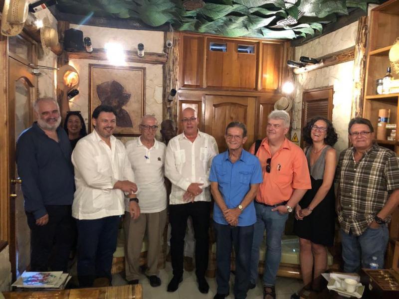O secretario xeral da Emigración, coa Agrupación Artística Gallega, que neste 2019 celebra o seu centenario