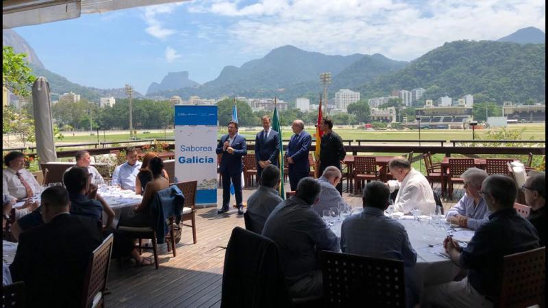 Imagen de la inauguración de este mediodía en Río de Janeiro de los 'Obradoiros de Sabores'