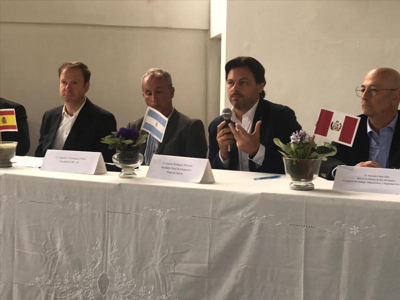 O secretario xeral da Emigración, na reunión do Consejo de Residentes Españoles – CRE
