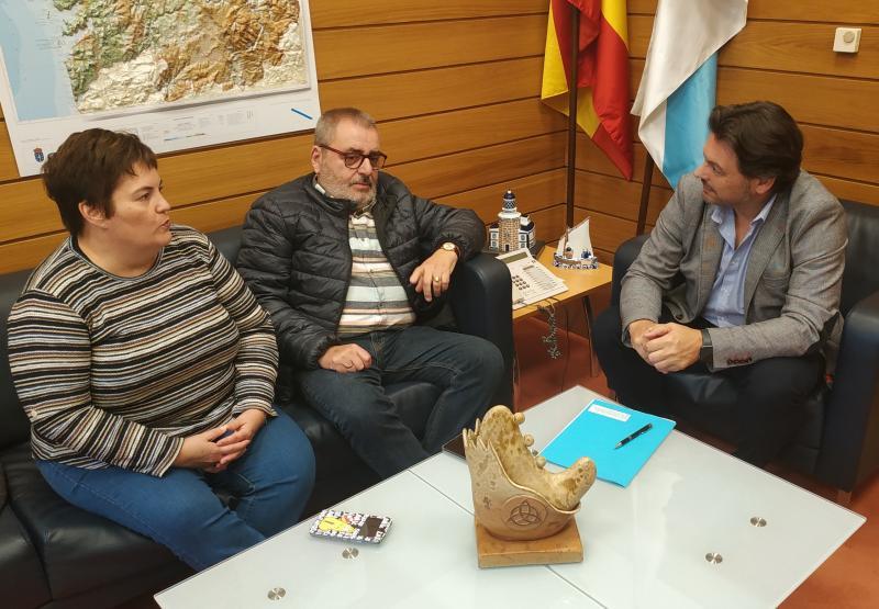 O secretario xeral da Emigración, no encontro co presidente da Asociación Centro Galego e Casa de Galicia de Barcelona e Provincia