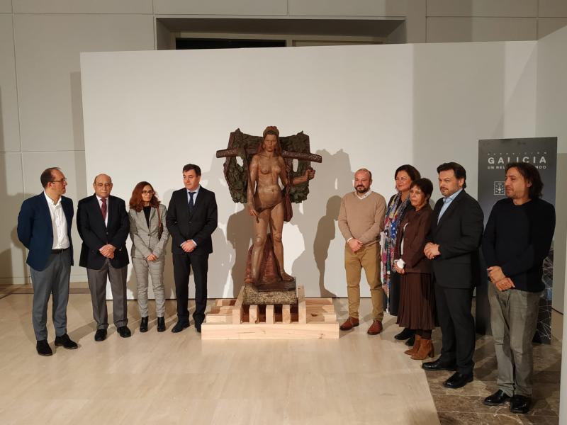 O Museo Gaiás recibe a 'Santa' de Asorey, símbolo da fortaleza da muller labrega galega que levaba case 70 anos no Uruguai