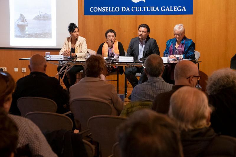 O secretario xeral da Emigración, na súa intervención esta mañá no Consello da Cultura Galega