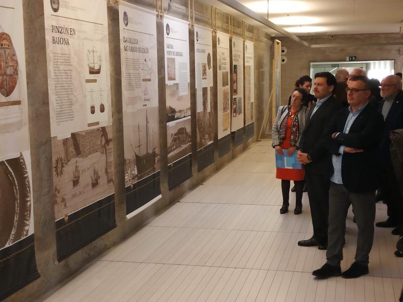 Imaxe da inauguración da mostra, este serán, no Museo de Pontevedra