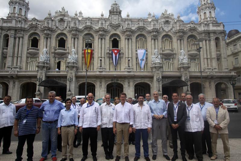 Imagen de archivo del XI Pleno del Consello de Comunidades Galegas, celebrado en 2016 en el antiguo Palacio del Centro Gallego de La Habana