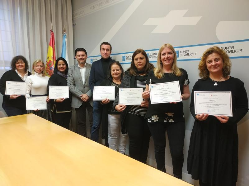 Imaxe do acto de entrega de diplomas celebrado hoxe en Santiago de Compostela
