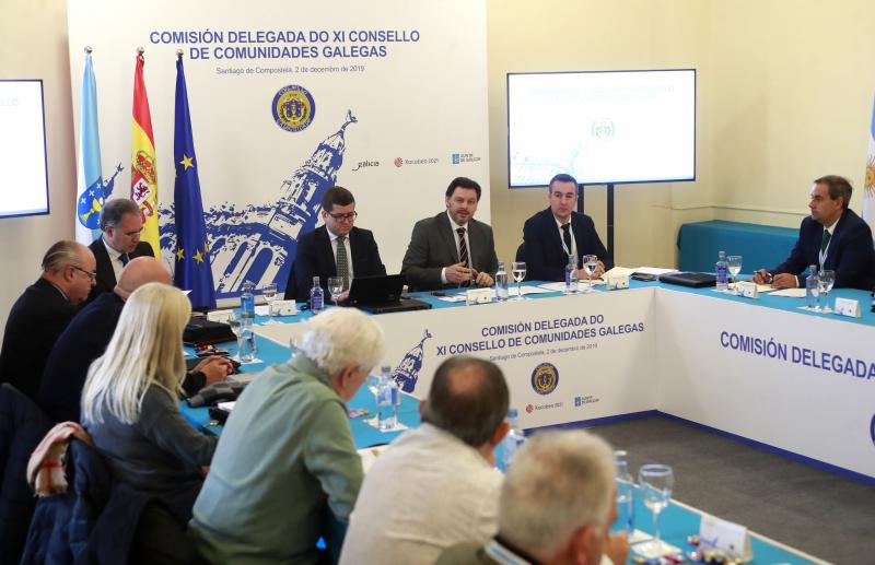 Imaxe da apertura esta mañá da reunión da Comisión Delegada do XI Consello de Comunidades Galegas