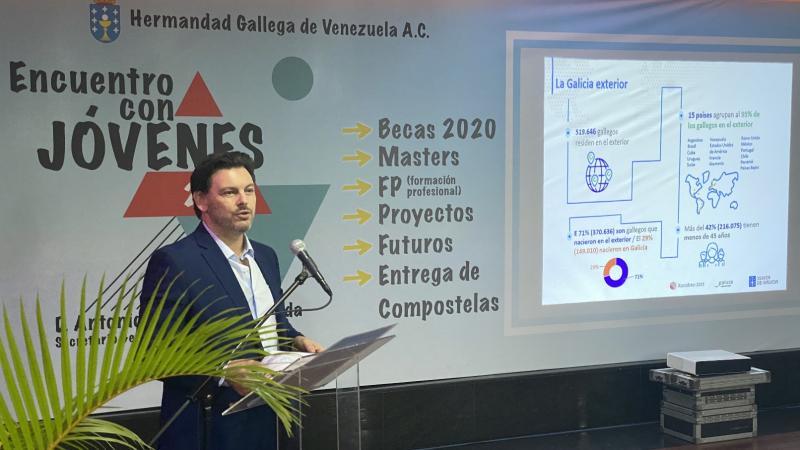 O secretario xeral da Emigración, no encontro coa mocidade galega de Venezuela