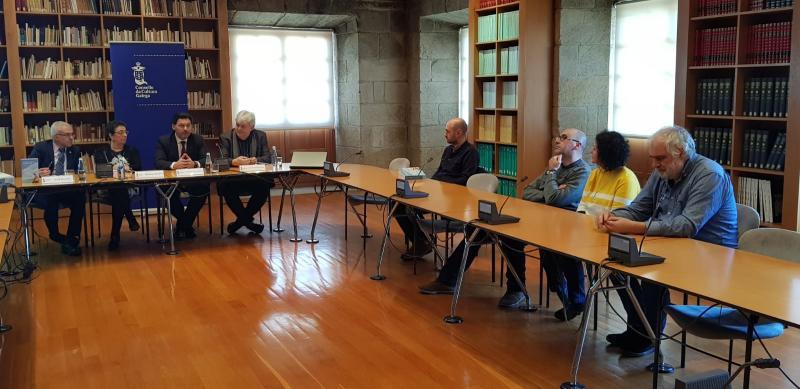 Imagen de la presentación de este mediodía en la sede del CCG en la capital de Galicia