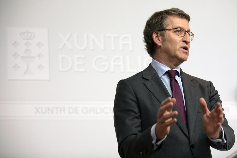 O presidente da Xunta de Galicia, informando da aprobación do anteproxecto de lei