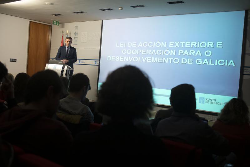 O vicepresidente da Xunta de Galicia, durante a presentación do anteproxecto de lei