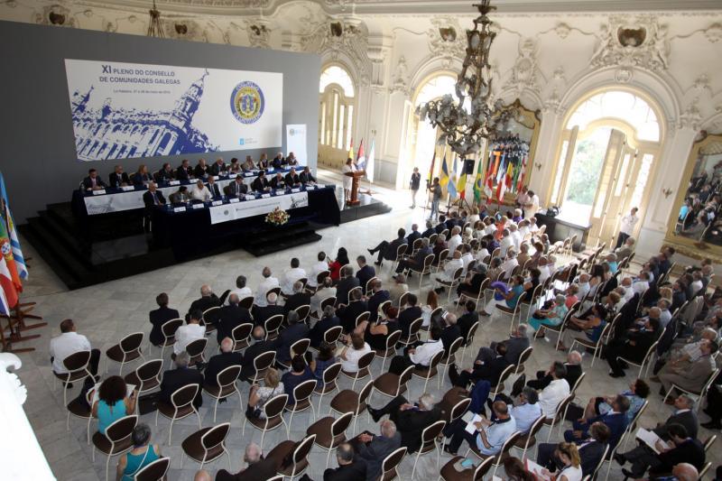 Foto de archivo del XI Pleno del Consello de Comunidades Galegas, celebrado en el Palacio doel antiguo Centro Gallego de La Habana