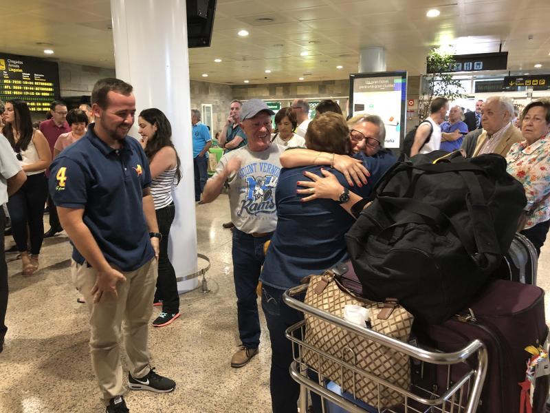 Imagen de archivo de la llegada al aeropuerto de Vigo de participantes de la edición de 2018