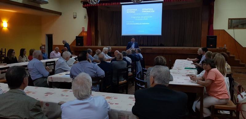 Miranda acerca a Uruguay los programas de actuación de la Secretaría y agradece la labor de las entidades gallegas en su desarrollo