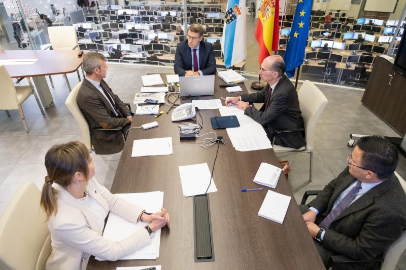 Imagen del Consello de la Xunta celebrado hoy en Santiago de Compostela