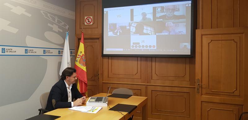 O secretario xeral da Emigración, na videoconferencia coas e cos representantes das entidades galegas no Uruguai