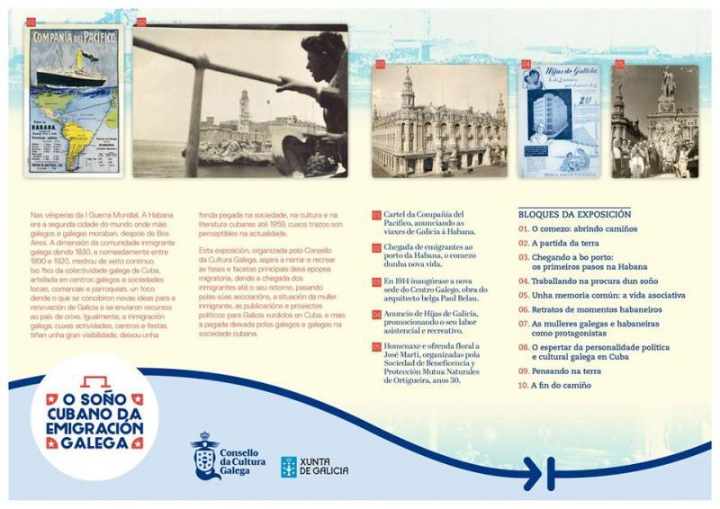 A mostra é froito da colaboración do Consello da Cultura Galega e a Secretaría Xeral da Emigración da Xunta de Galicia
