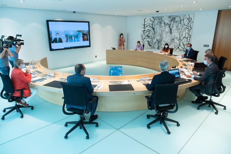Imagen de la reunión del Consello de la Xunta de Galicia