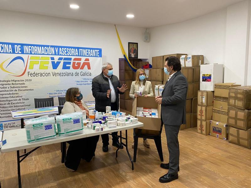 Antonio Rodríguez Miranda, durante a visita á sede da Federación Venezolana de Galicia - Fevega
