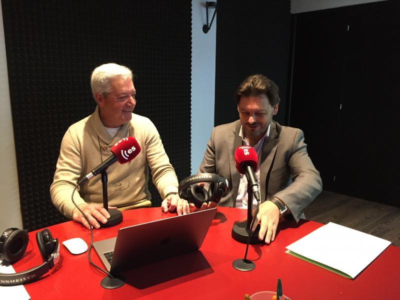 Na foto de arquivo, Antonio Rodríguez Miranda e Ignacio Balboa nos estudios de esRadio