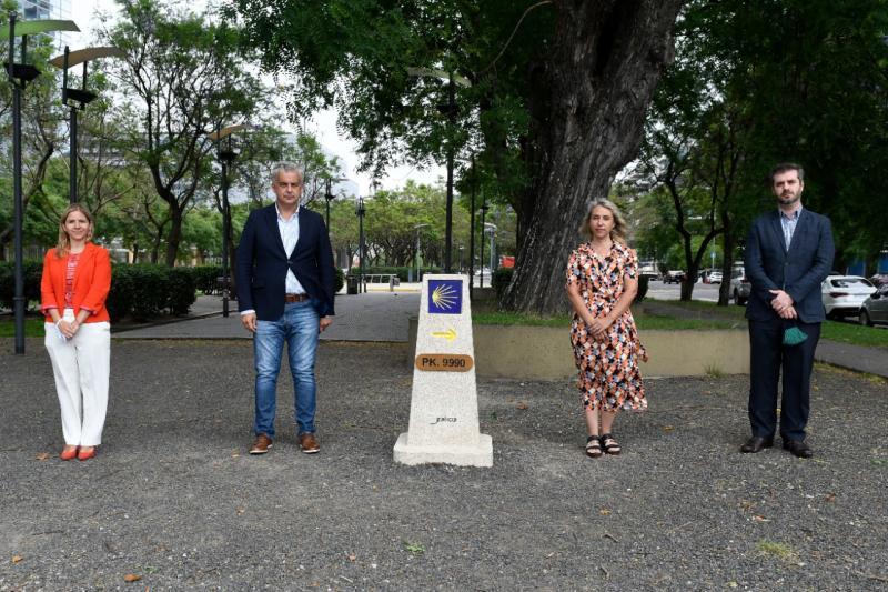 Imaxe da inauguración da mouteira do Camiño de Santiago na capital arxentina