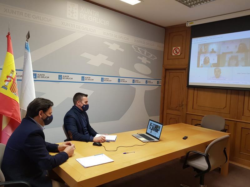 Foto, na sede de Emigración na capital de Galicia, da xornada que tivo lugar esta mañá