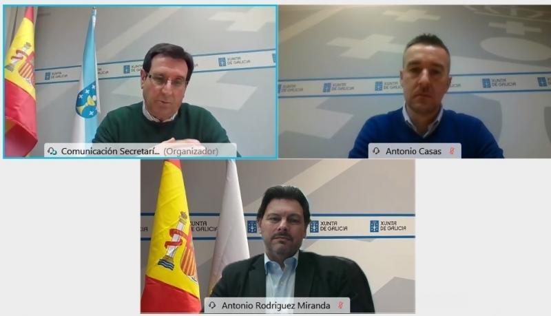 Antonio Rodríguez Miranda presidiu as dúas videoconferencias coas que esta semana se clausuraron as xornadas formativas