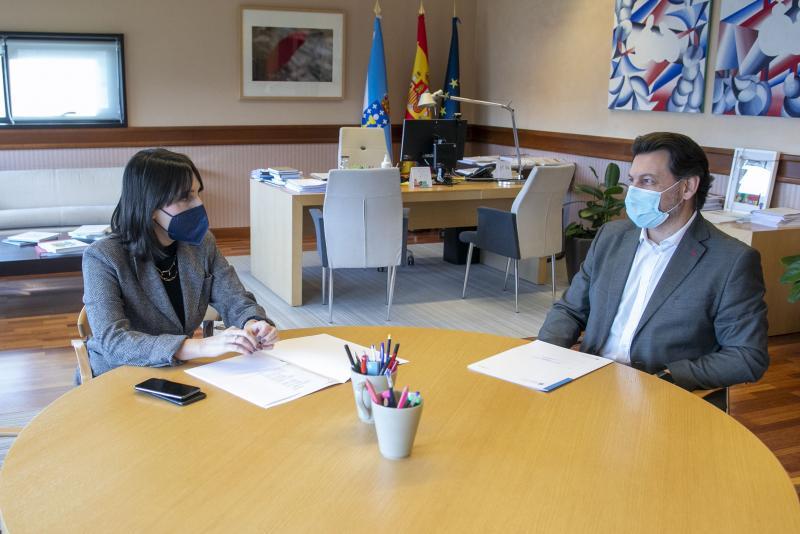 Lorenzana e Miranda, durante a reunión de hoxe na capital de Galicia