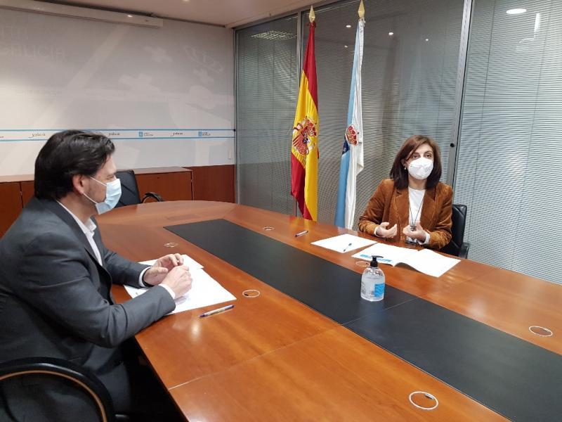 Vázquez e Miranda, durante a reunión de traballo que tivo lugar na capital de Galicia