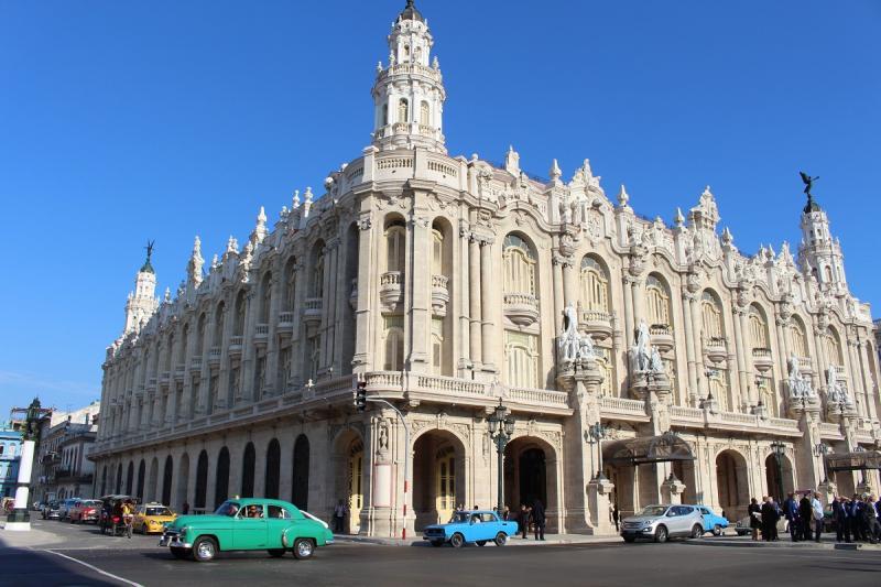 Na imaxe, o antigo palacio do Centro Gallego da Habana