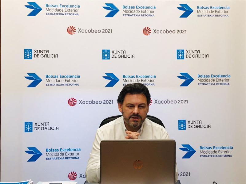 Antonio Rodríguez Miranda, durante unha das webinares informativas celebradas esta semana